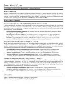 Budget Administrator Sle Resume by Sle Resume For Budget Analyst