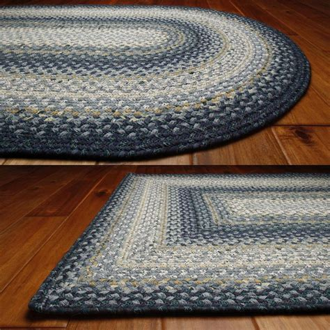 Braided Throw Rugs by Wedgewood Coastal Cotton Braided Area Throw Rugs Oval And
