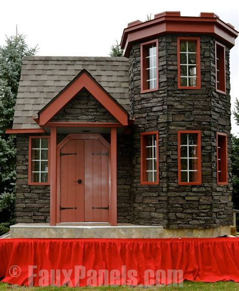 Backyard Playhouse Castle Playhouse Creative Faux Panels