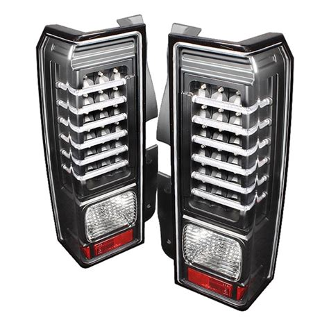 h2 led tail lights hummer h3 non h3t led tail lights pair black