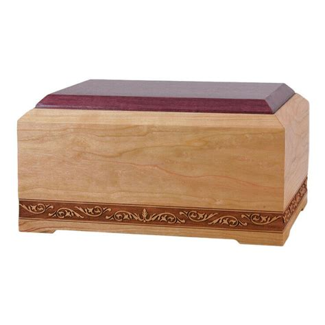 wood cremation urn wooden urns cherry  orleans ebay