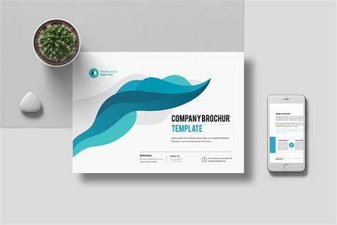company profile unique design a4 landscape company profile 16 pages on behance