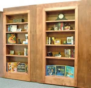 swinging bookcase door woodwork swinging bookcase door pdf plans
