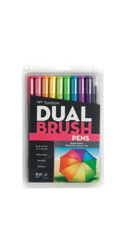 Tombow Dual Brush Bright Palette Set Tombow Dual Brush Set 10 buy tombow bright palette dual brush pen set at well ca free shipping 35 in canada