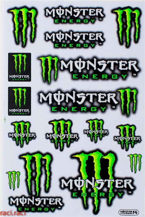 Green Monster Aufkleber by Green Monster Energy Claws Sticker Decal Supercross By
