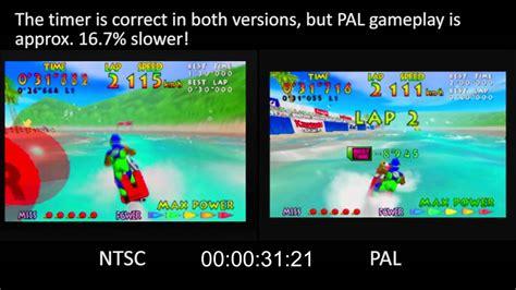 Format Video Pal Vs Ntsc | pal vs ntsc wave race nintendo 64 youtube