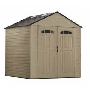 rubbermaid big max 7 ft x 7 ft resin storage shed