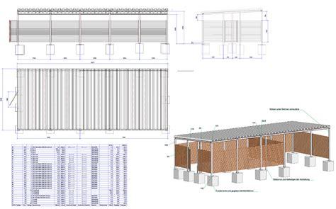 konstruktion carport die cad konstruktion metallbau heiner dressr 252 sse