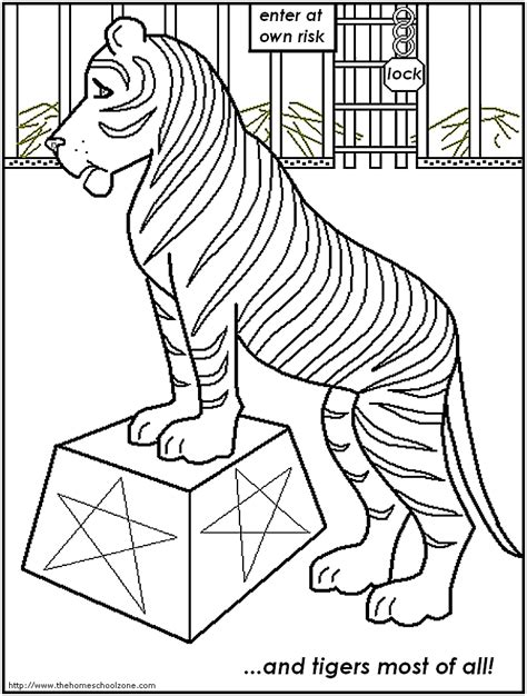 circus tiger coloring page printable circus coloring pages az coloring pages