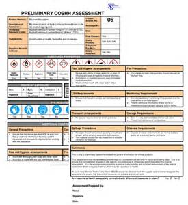 coshh assessment template coshh assesments for construction 163 119 ssd