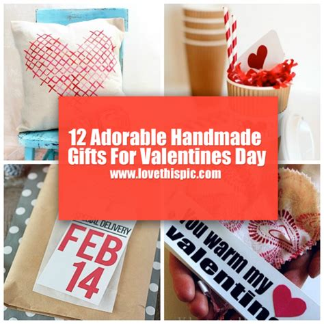 Valentines Handmade Gifts - 12 adorable handmade gifts for valentines day