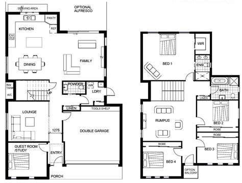 craftsman floor plans 2 story modern 2 story house plans cltsd contemporary two story