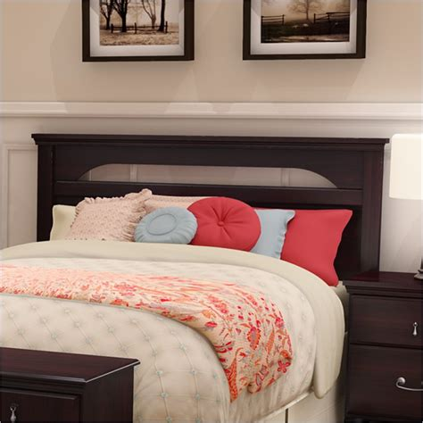 dark wood headboard queen dover full queen wood panel headboard in dark mahogany