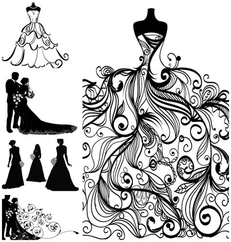 people | Vector Graphics Blog | Page 2 Free Clipart Bride Silhouette