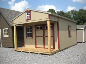 12 x20 hartford cabin shed with 4 porch loft