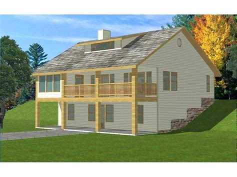 cozy house plans sloping lot walkout basement awesome