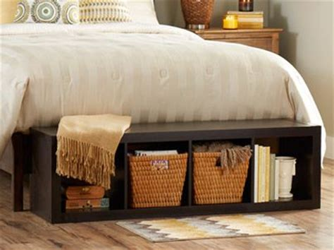 bed foot storage bench lay our 4 cube organizer at the foot of your bed for an easy to reach storage bench