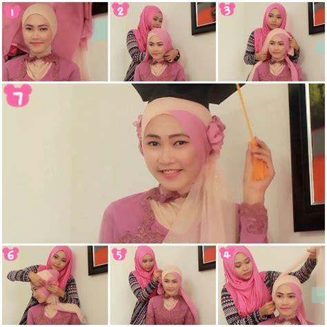 tutorial hijab paris dengan kebaya tutorial hijab kebaya untuk wisuda 1