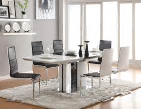 White Modern Dining Room Sets Contemporary Dining Room Sets For Beloved Family Traba Homes