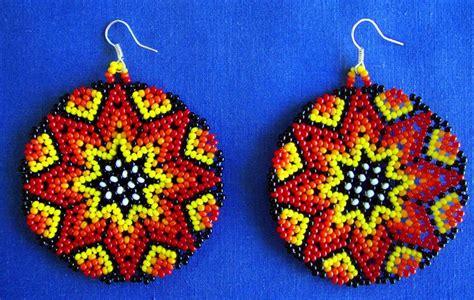 mexican huichol beaded earrings