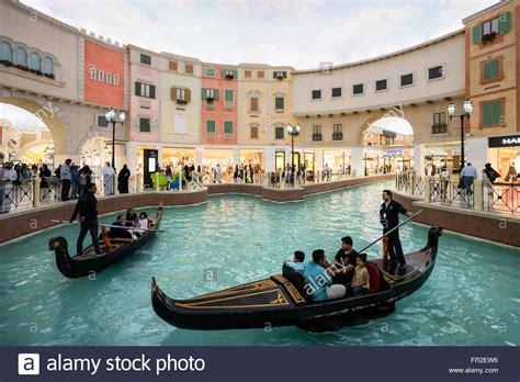 boat ride qatar gondola boat trips on indoor canal at italian themed