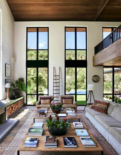 Great Room Windows Inspiration Ideas Para Decorar Una Sala De Estar De Doble Altura