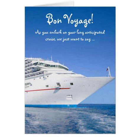 bon voyage card template bon voyage cruise card zazzle