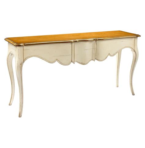 Ivory Console Table Manet Country Cherry Wood Ivory Console Table Kathy Kuo Home