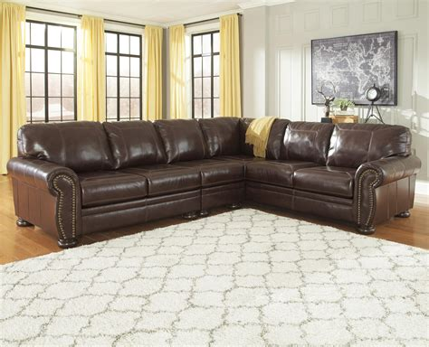 3 piece sectional sofa signature design by ashley francesco 3 piece leather match