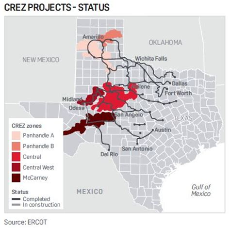 texas transmission lines map related keywords suggestions for ercot crez