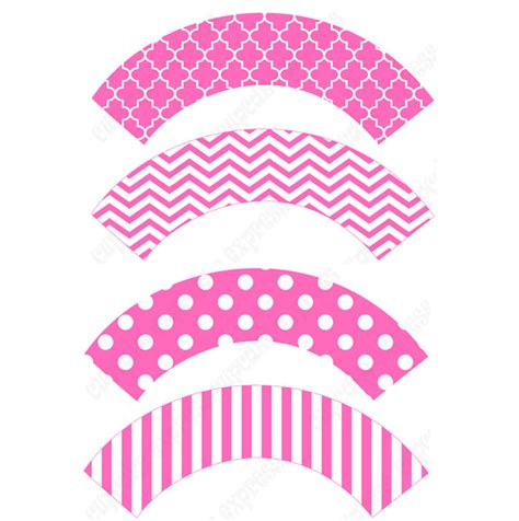 free printable owl cupcake wrappers 4 best images of pink cupcake wrappers printable template