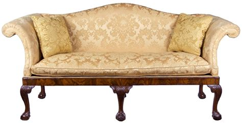 chippendale sofas chippendale camelback sofa with claw and ball feet