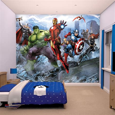 marvel wall mural marvel comics and wallpaper wall murals d 201 cor bedroom ebay