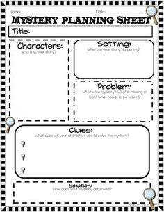 Detective Case Report Story Map For Use With Mystery Books Elementary Ideas Pinterest Writing A Mystery Story Template