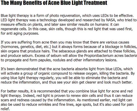 blue light therapy for acne august 2013 liamcoe10