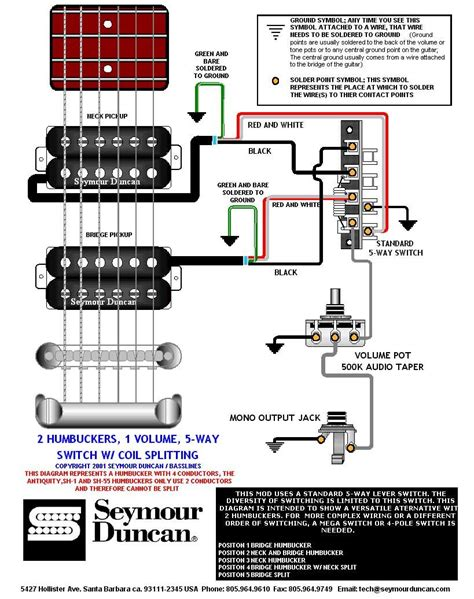 getting all the strat tones with 2 humbuckers how to wire guitar wiring diagrams pinterest