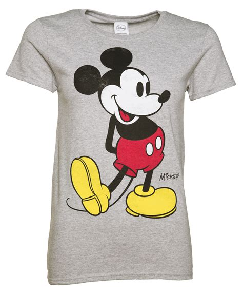 T Shirt Mickey Minnie s grey marl disney classic mickey mouse t shirt