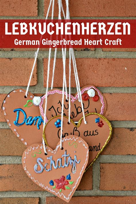 in germany crafts paper lebkuchenherzen german gingerbread hearts mad in