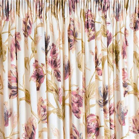 Gosford Plum Floral Curtain From Laura Ashley Curtains