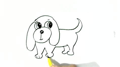 draw easy dog  easy steps  children