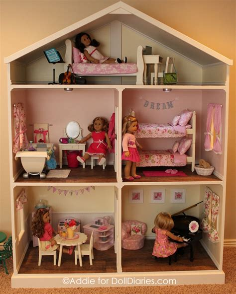 Handmade Dollhouse - another handmade dollhouse for american dolls doll