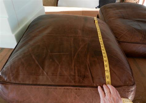 leather couch cushion repair fix flattened down leather sofa cushions modhomeec