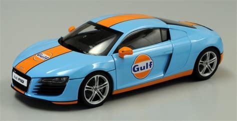 audi  gulf oil tribute decoration diecast model car   scale  kyosho