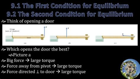 The Second Condition ppt 9 statics and torque 10 rotational motion and