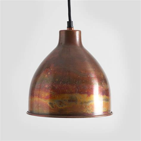 large copper pendant light antique brass ceiling rose antique brass chain hook