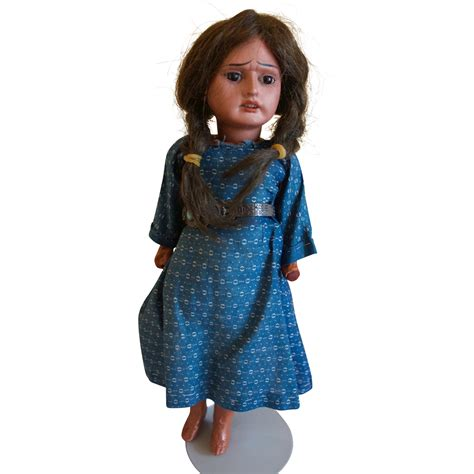 bisque indian doll bisque scowling faced indian vintage collectible