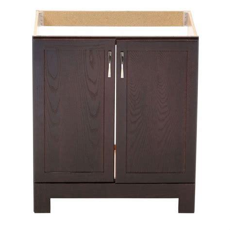 Glacier Bay Bathroom Cabinets Glacier Bay Gallery 30 In W X 21 In D X 33 5 In H Vanity Cabinet Only In Java Oak Gjvo30