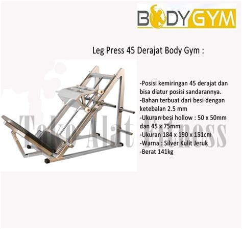 Alat Fitnes Leg Press leg press 45 derajattoko alat fitness toko alat fitness