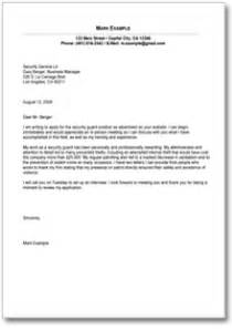 Cover Letter For Security Officer Position by Security Officer Cover Letter Sle Security Guards Companies
