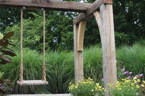 swing landscape timber swing traditional landscape nashville by